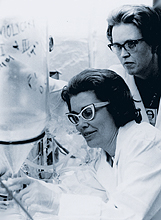 Darleane Hoffman in the early days of her career. Photo courtesy Los Alamos National Laboratory.