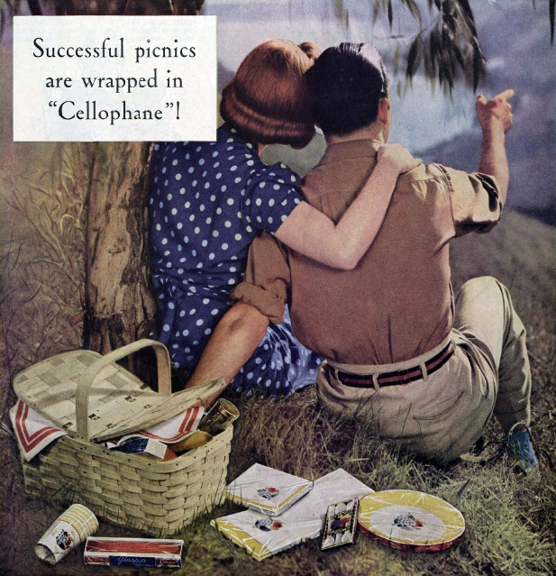An early advertisement for cellophane