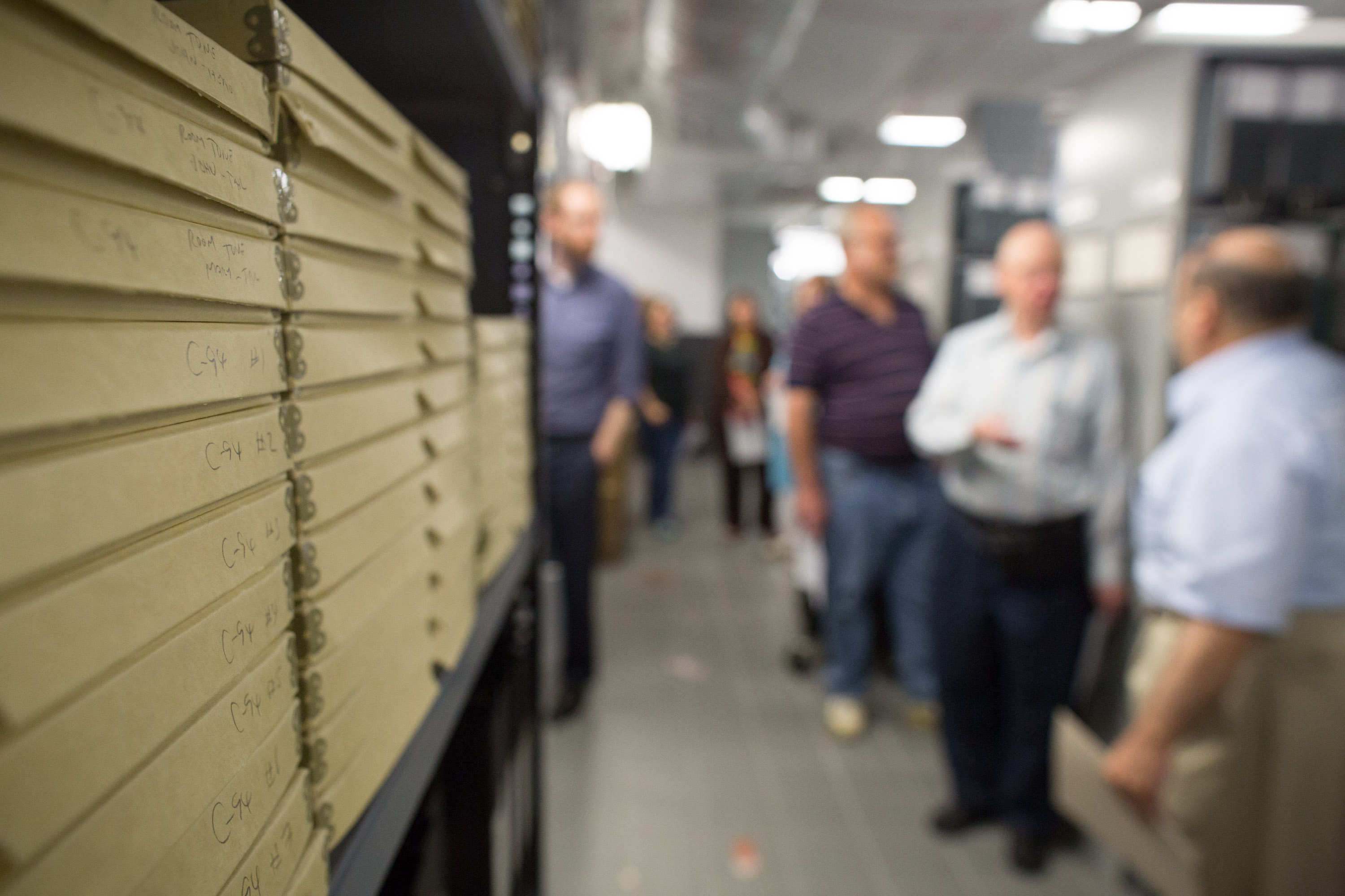 A tour of the archives storage space
