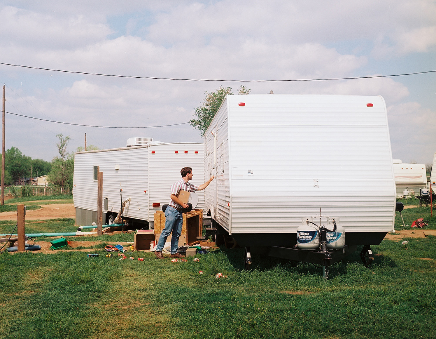 the Institute researcher Nicholas Shapiro tracks down Hurricane Katrina-era FEMA trailers in the oil fields of North Dakota.