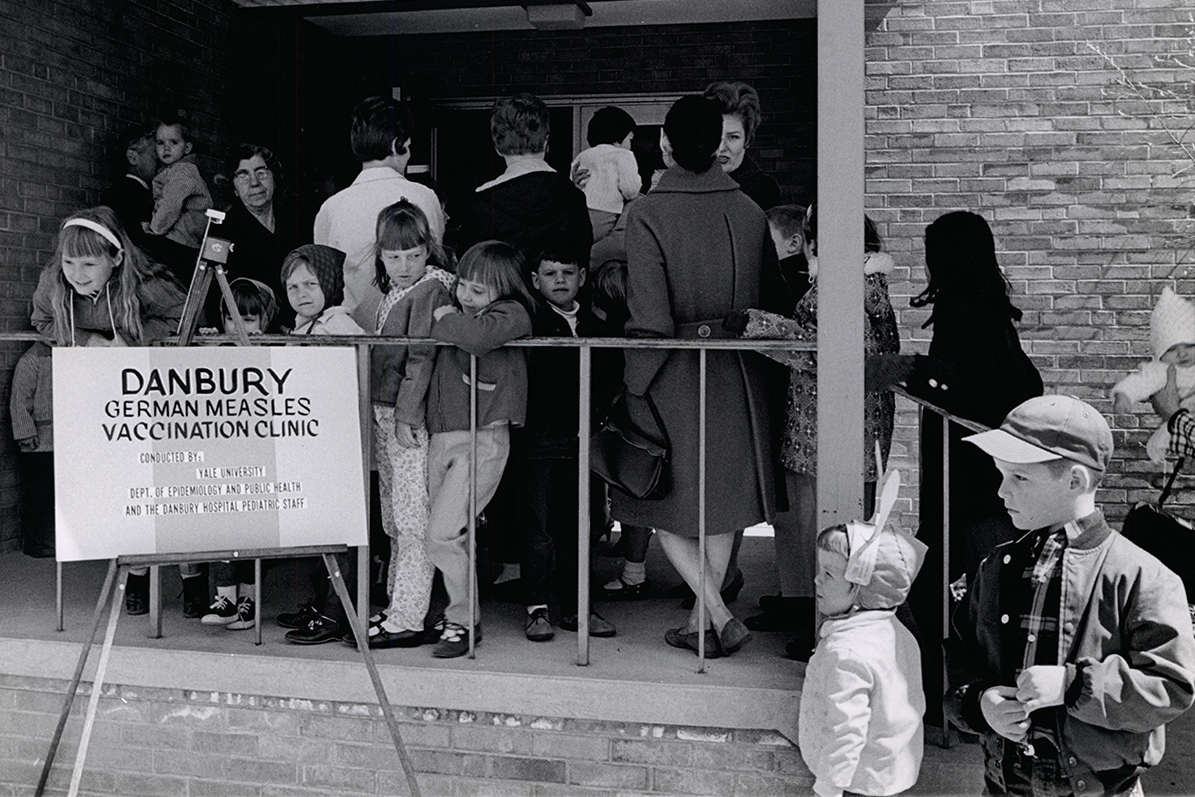 Rubella (German Measles) vaccination clinic in 1969