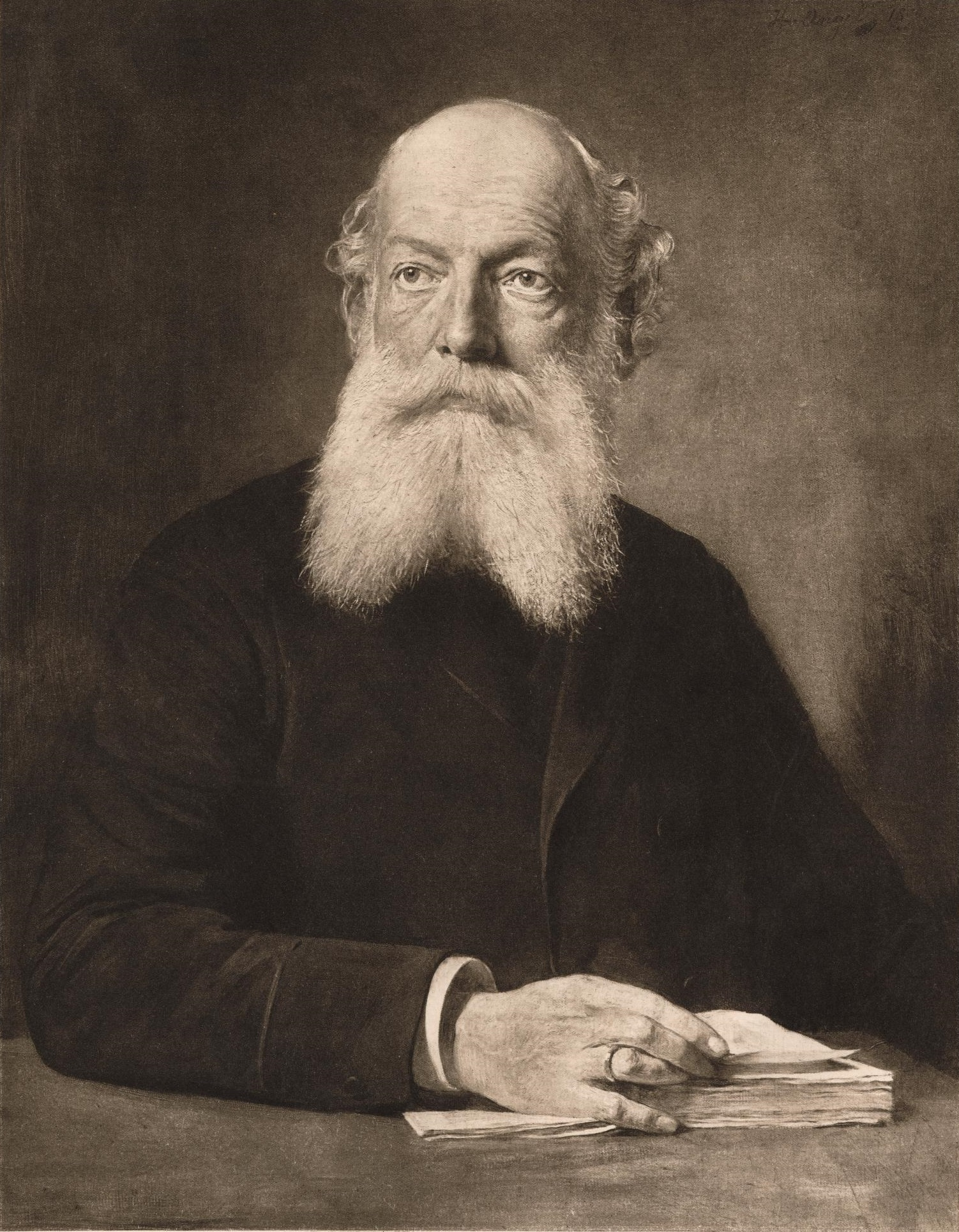 Portrait of August Kekulé, commissioned by German dye companies for his 60th birthday.