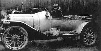 Eugene Houdry as a lieutenant in the tank corps of the French Army during World War I.
