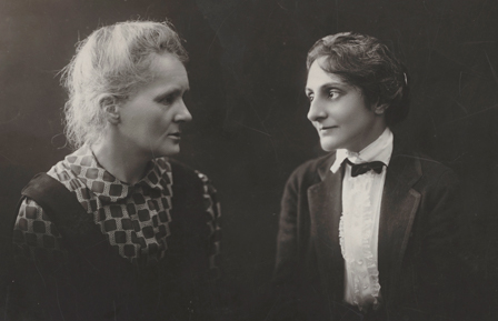 Meloney and Curie portrait in silhouette