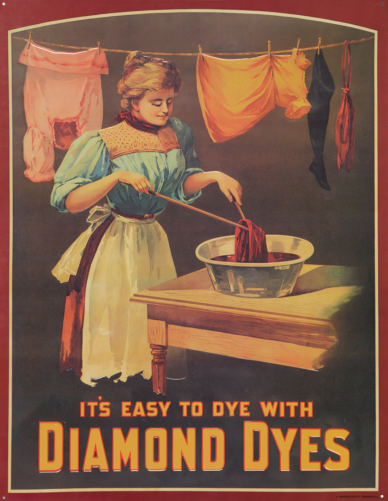 Color advertisement for dyes