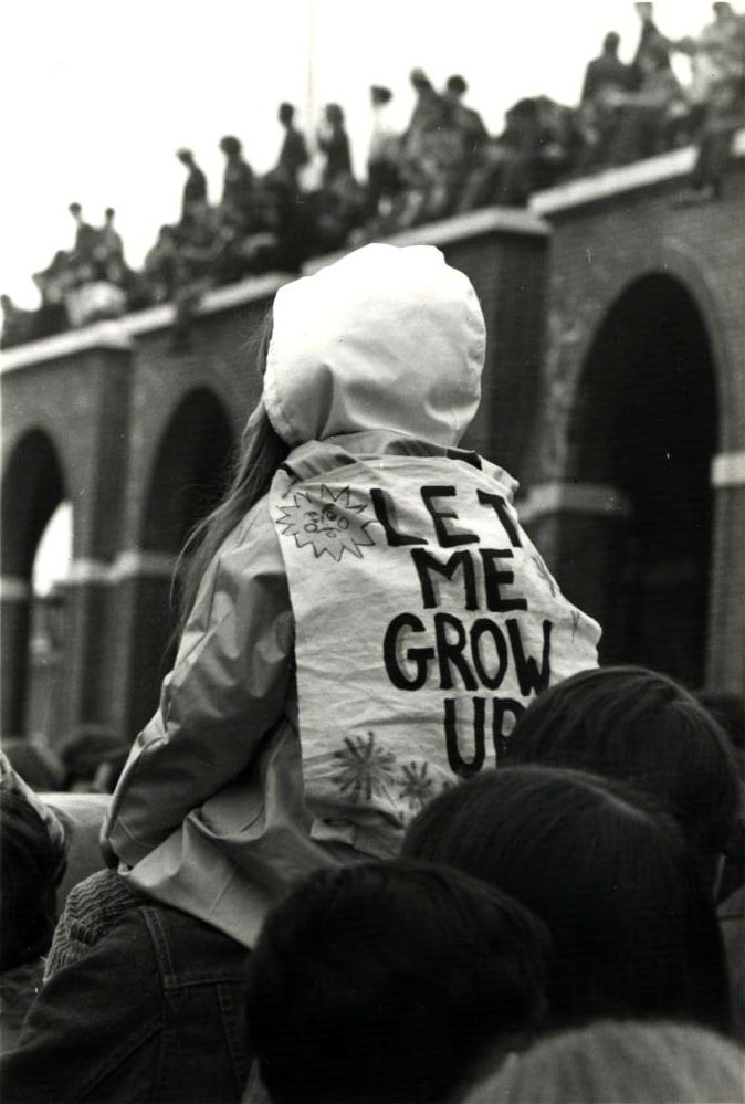 Child in crowd