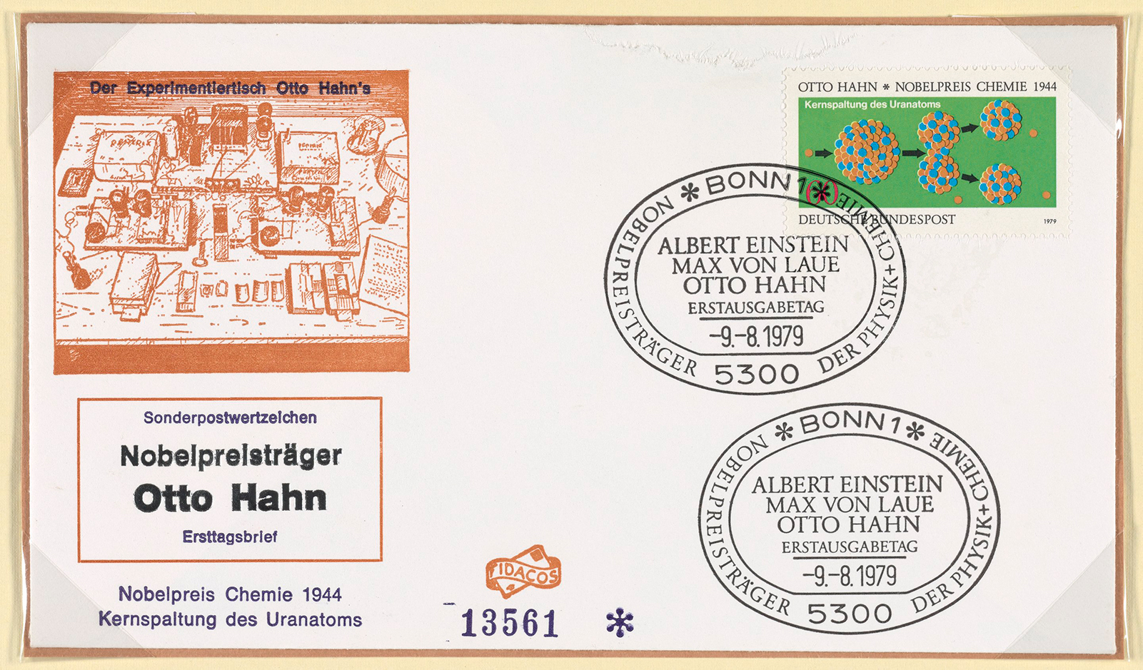First day cover in German
