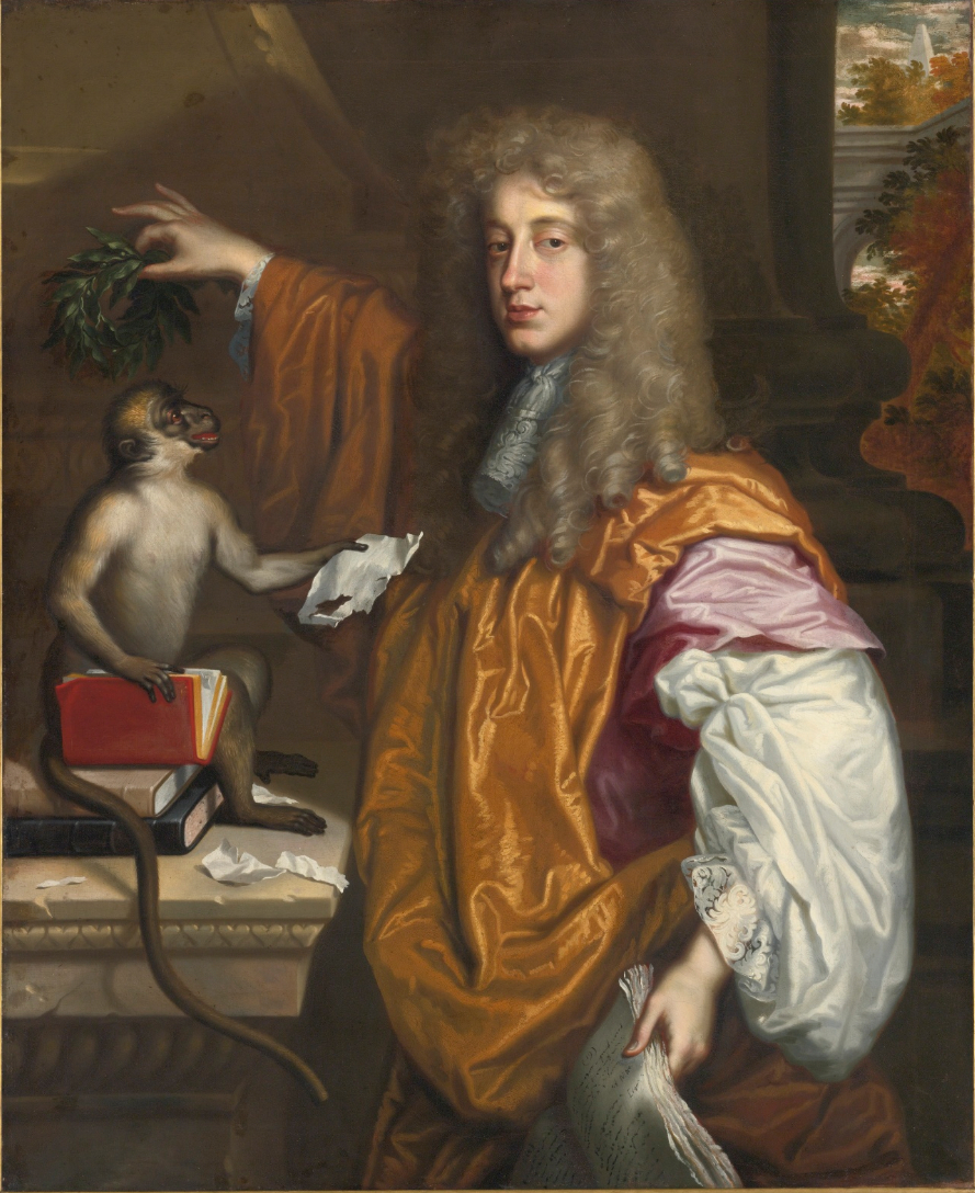 Oil painting, portrait of a man in a wig