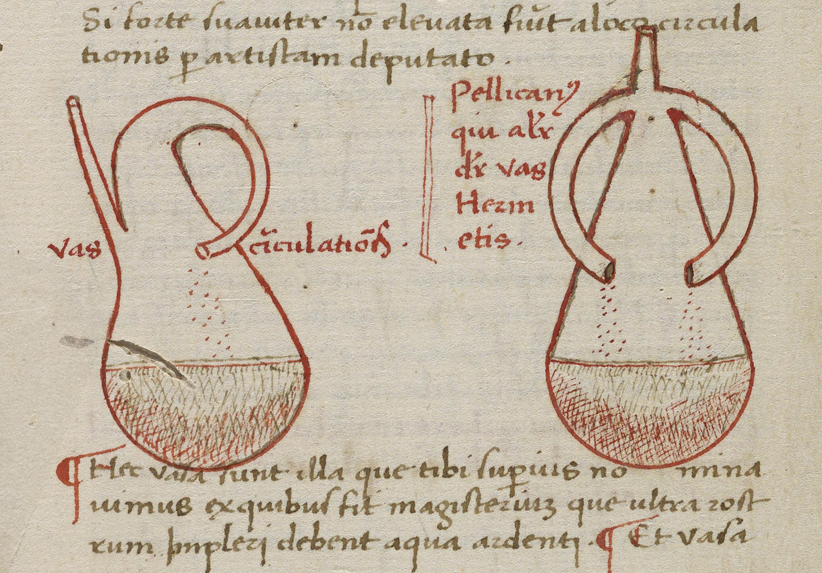 Manuscript with simple illustrations