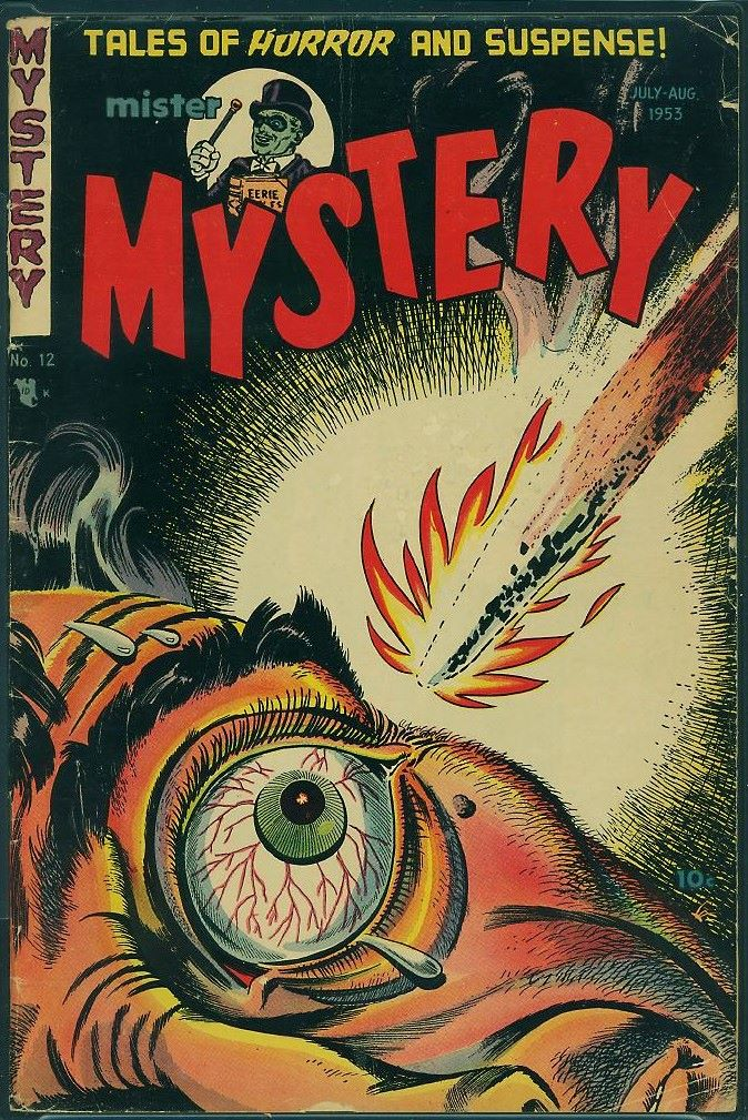 Cover of horror comic book