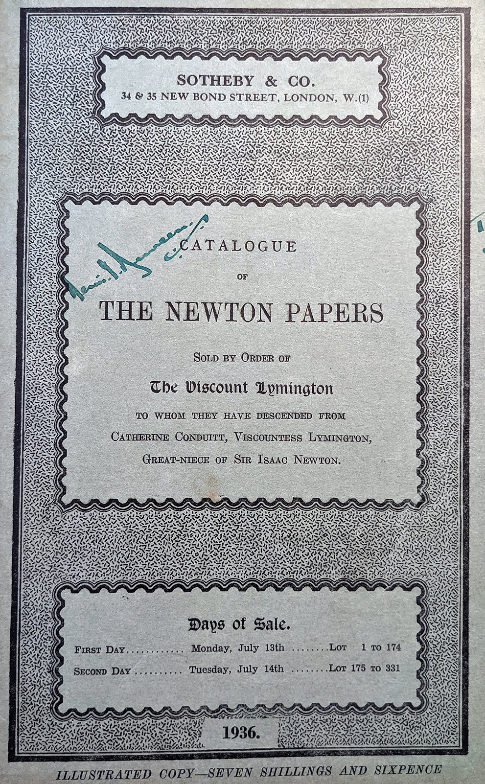 photo of an old catalog cover
