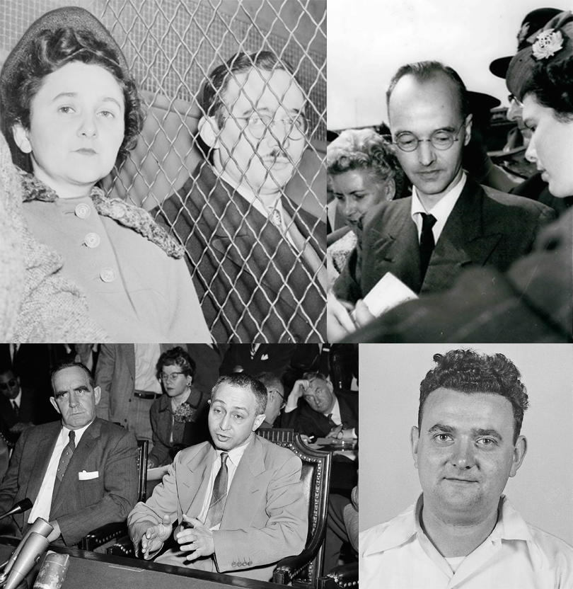 Ethel and Julius Rosenberg, Klaus Fuchs, Harry Gold, David Greenglass