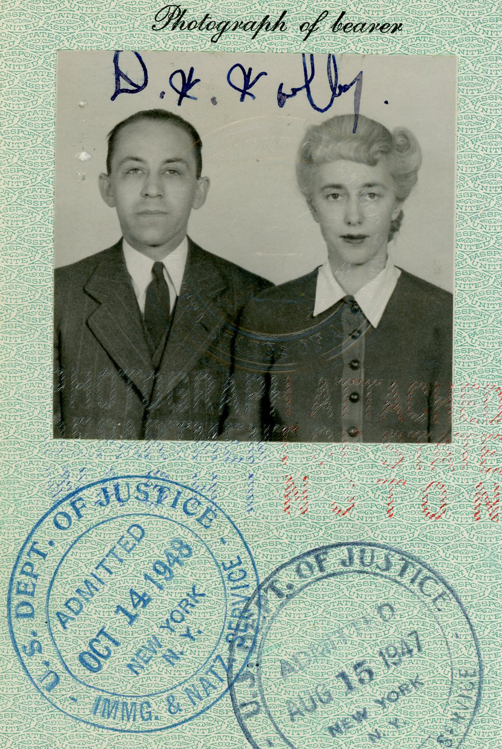 government ID photo of man and woman