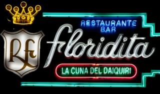 Neon sign at La Floridita Bar, Havana, Cuba.