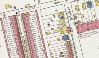 Detail from Sanborn map of Ambler, PA.