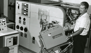 A mass spectrometer 9 (MS9) at the Humble Oil and Refining Company, Baytown, Texas