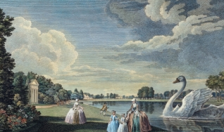 English royal gardens at Kew, Richmond