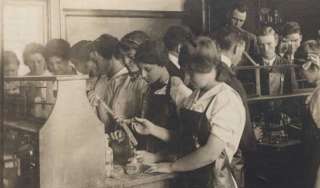 Not-so-safe chemistry lab practices, ca. 1910
