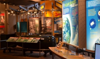 The Bradbury Science Museum is part of the Los Alamos National Laboratory. The museum's history gallery tells the story of the making of the atomic bomb. (Sarah Reisert)