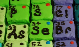 A periodic table of cupcakes