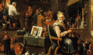 Detail from An Alchemist's Laboratory