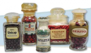 Apothecary-style bottles