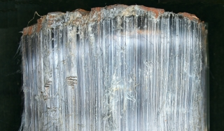 Crocidolite asbestos, Pomfret Mine, Vryburg, South Africa.