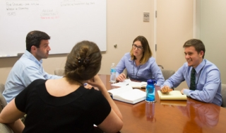 Science History Institute oral history team in a meeting