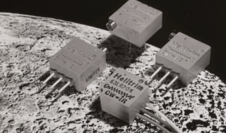 Helitrim trimming potentiometers on the moon