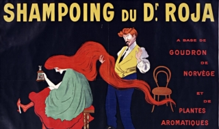 a French shampoo ad from 1907