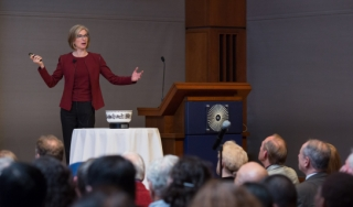 Jennifer Doudna gives the 2018 Ullyot lecture.