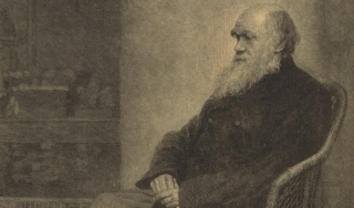 A portrait of Charles Darwin by Thomas Johnson