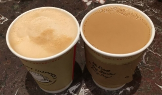Two cups of coffee to-go