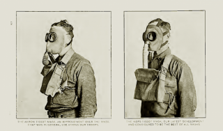 Men wearing gas masks