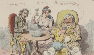Punch cures the gout, Gillray, 1799.