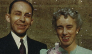 color portrait of man and woman smiling