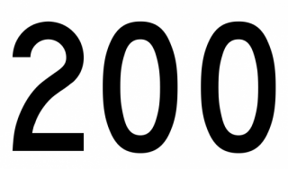 the number 200