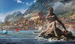 Photo rendering of ancient greece