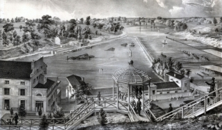 Historical photo of Philadelphia's Fairmount Water Works