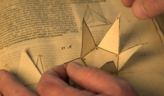 A close up of a pop-up book