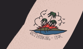 Still image from Rethinking Ink animation