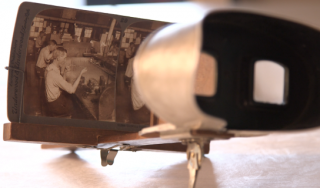 stereoscope with stereograph