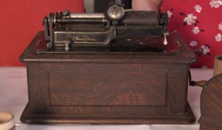 Edison wax cylinder phonograph