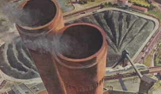 Ad featuring industrial power plant 1943