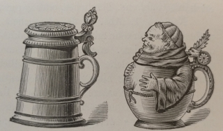 Illustration of beer steins