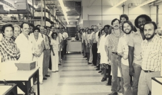 Unidentified Beckman Instruments employees