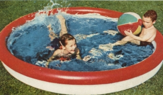 ad for water toys 1954