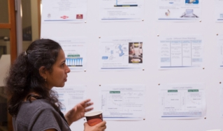 Innovation Day Attendees at Poster Session