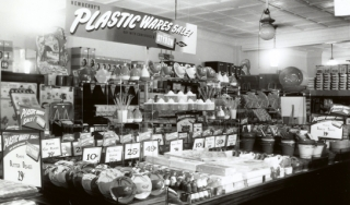 Plastic Wares Sales Display Featuring Dow Styron 1949