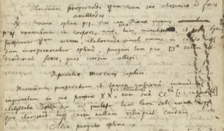 Page from Isaac Newton's copy of the Preparation of the [Sophick] Mercury for the [Philosophers'] Stone